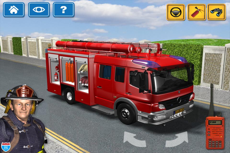 Screenshot Kids Vehicles 1: Interactive Fire Truck – 3D Games for Little Firefighters and Drivers of Firetrucks